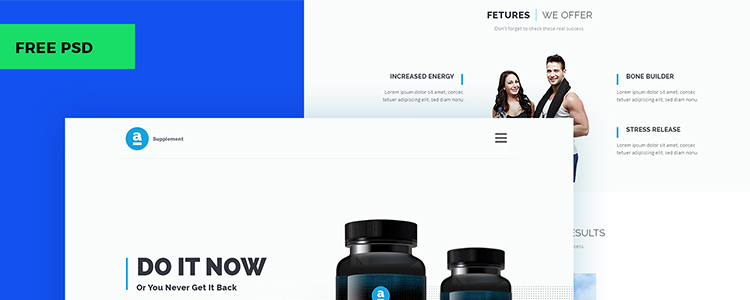 Adele Product Landing Page PSD