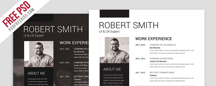 Simple Clean Resume PSD