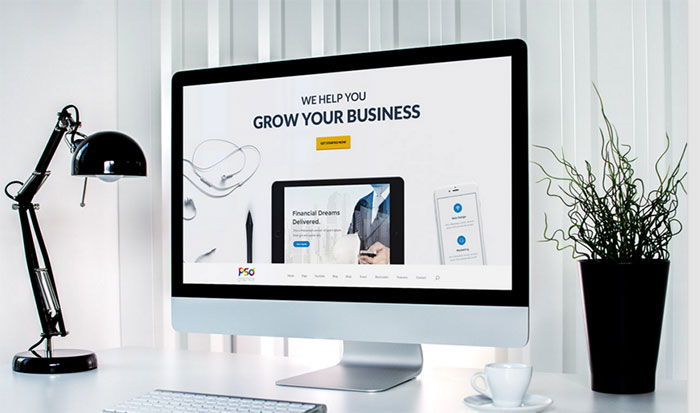 Professional Business Website Template Free PSD