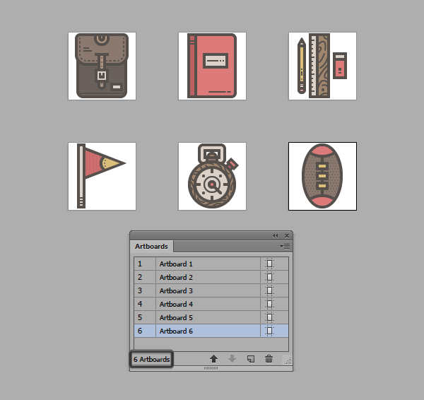 using multiple artboards to export icons