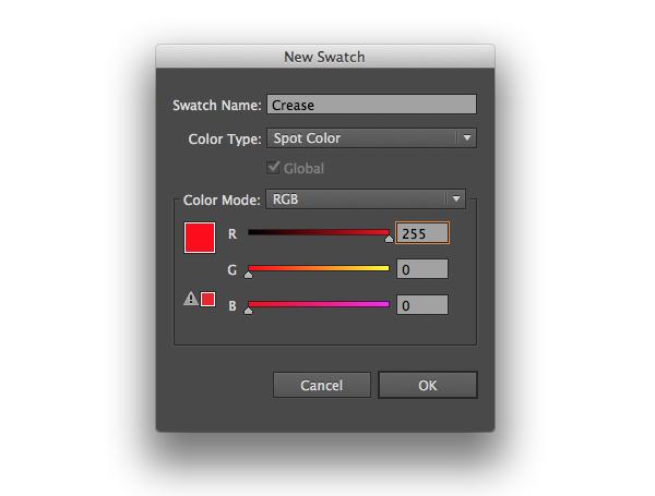 crease spot color