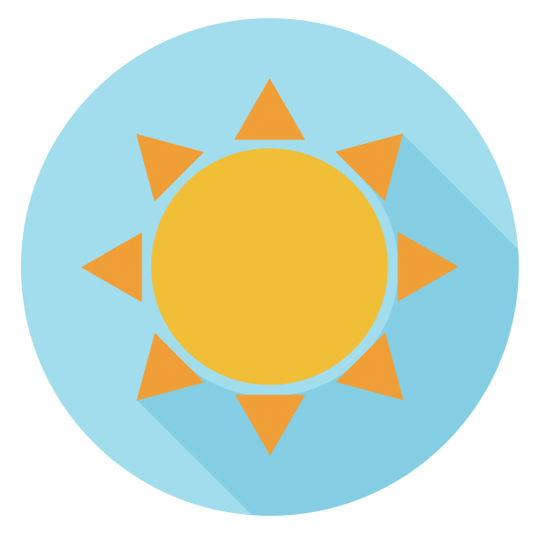 sun icon is ready