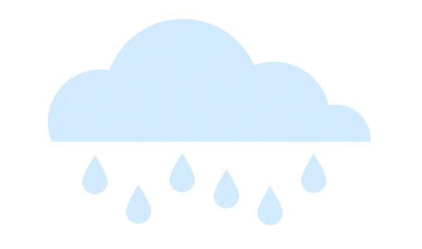 add more rain drops under the cloud