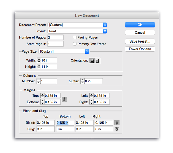 new document window