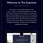The Supreme – Luxury Hotel HTML5 & CSS3 Template (Travel)