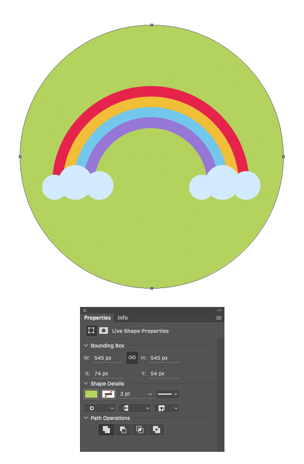 create the circle icon base