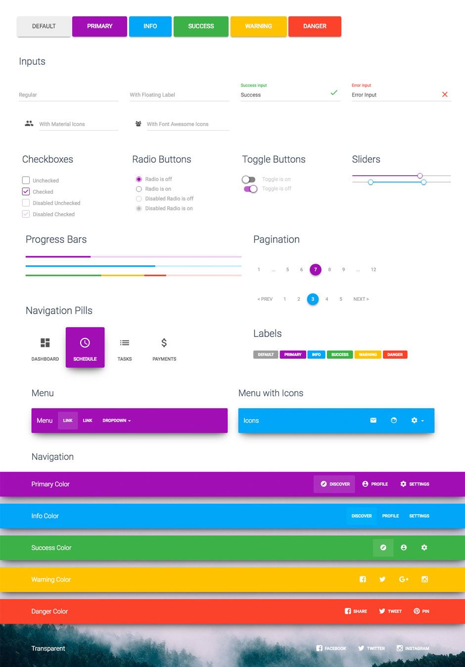 Material Kit - A Badass Bootstrap UI Kit Based on Material