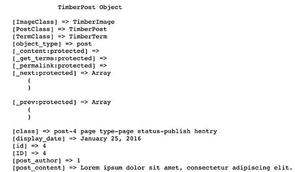 TimberPost object