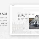 Kaam – Responsive Ajax Creative Portfolio Template