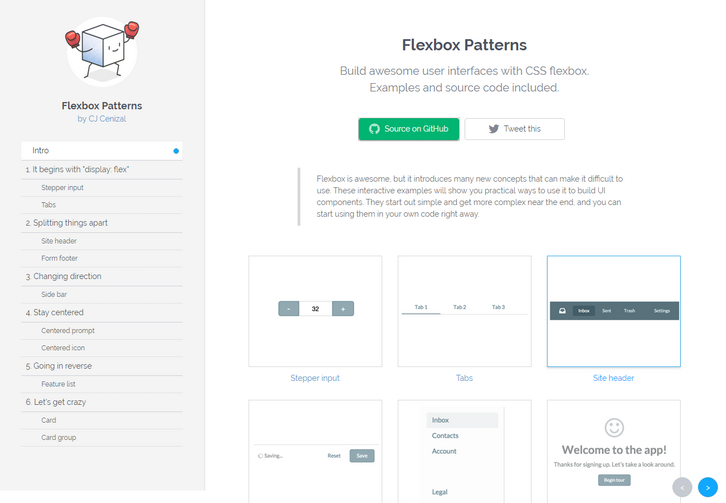flexbox-patterns
