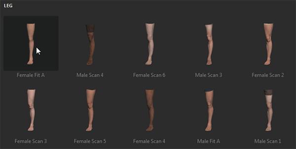 adobe fuse attach legs