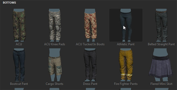 adobe fuse how to add pants trousers