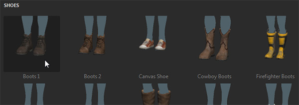 adobe fuse how to add shoes boots