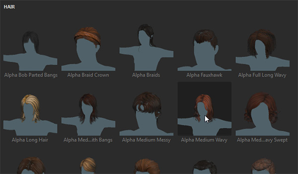 adobe fuse how to add hair