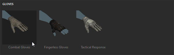 adobe fuse how to add gloves