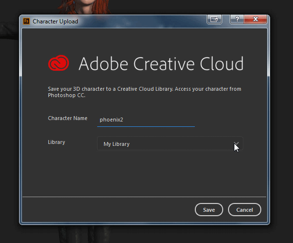 adobe fuse how to save to library