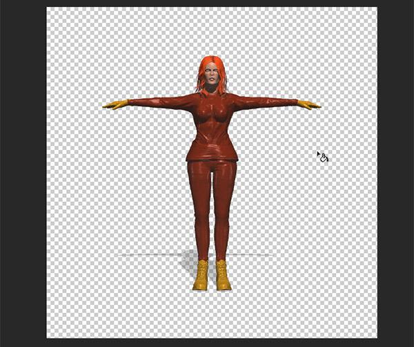 photoshop cc how to color 3d model