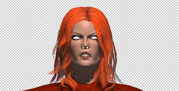 photoshop cc mesh face eyes painted