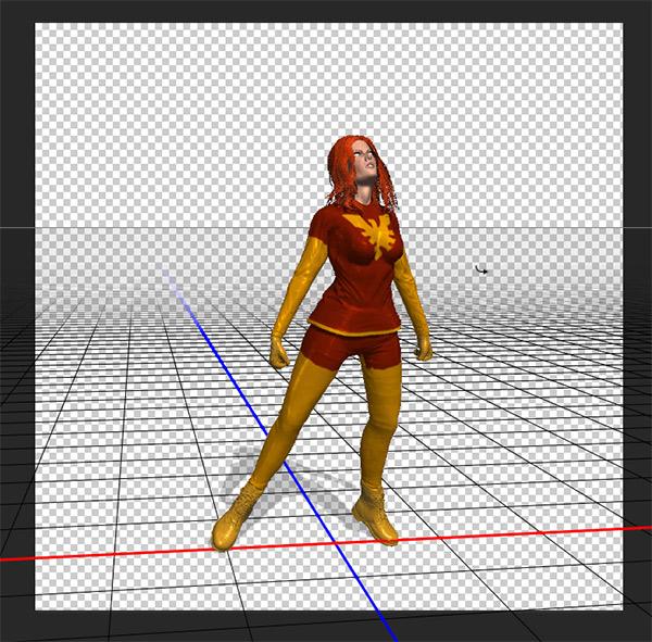 photoshop cc pose flying customized