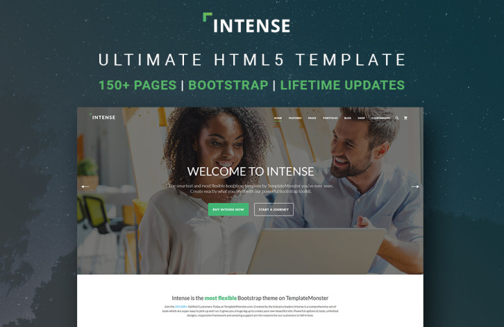 intense - multipurpose html5 template