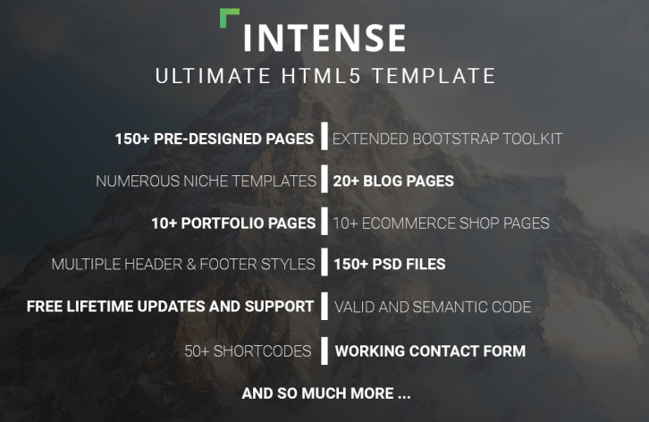 intense - ultimate html5 template