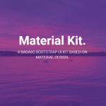 Material Kit – Free Bootstrap UI Kit for Google Material Design