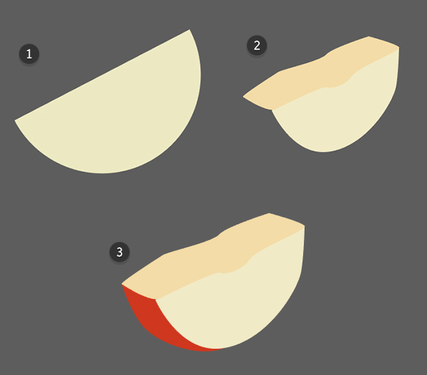 Draw an apple slice
