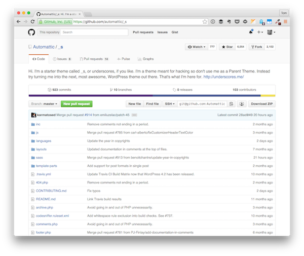 The Underscores GitHub Repository