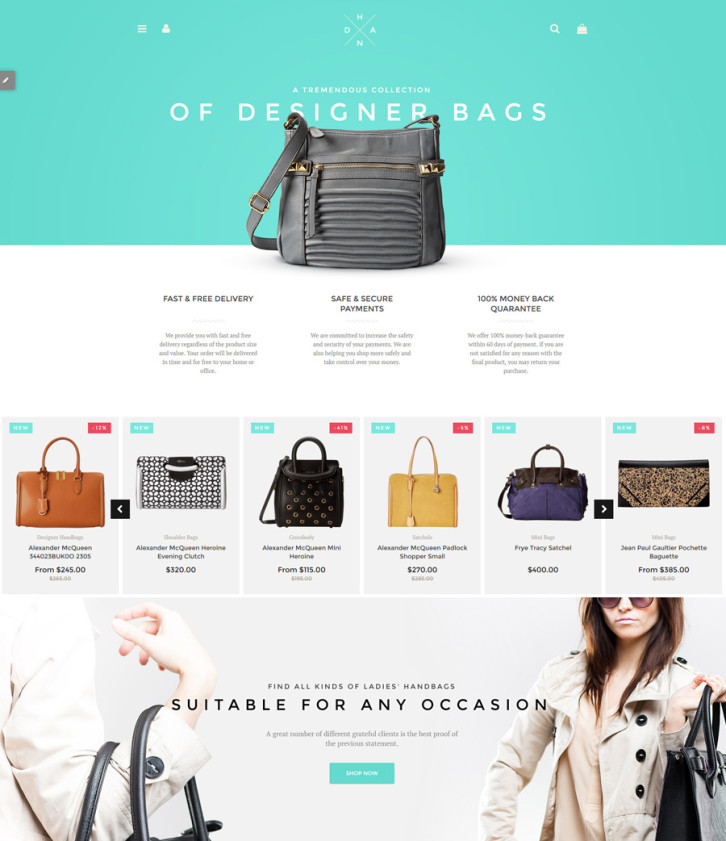1-Handbag-Boutique Shopify theme