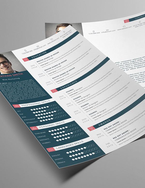Modern Resume & Cover Letter & Portfolio Template