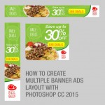 Creating Multiple Banner Ads Layout Using Artboard in Photoshop CC 2015