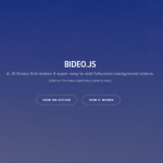 Fullscreen Background Videos with Bideo.js