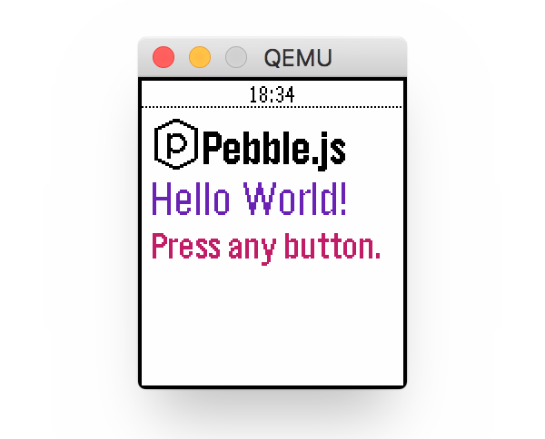 Hello Pebblejs Boilerplate App