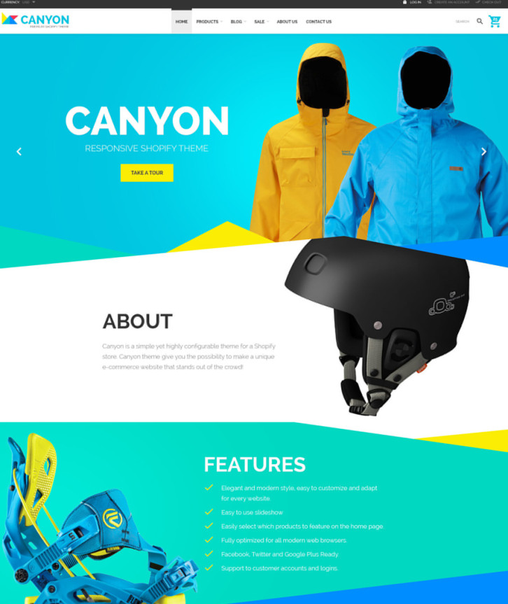 20-canyon Shopify theme