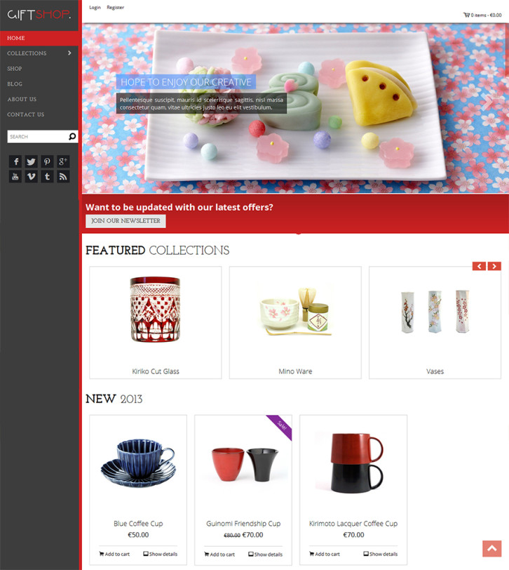 22-giftshop free Shopify theme