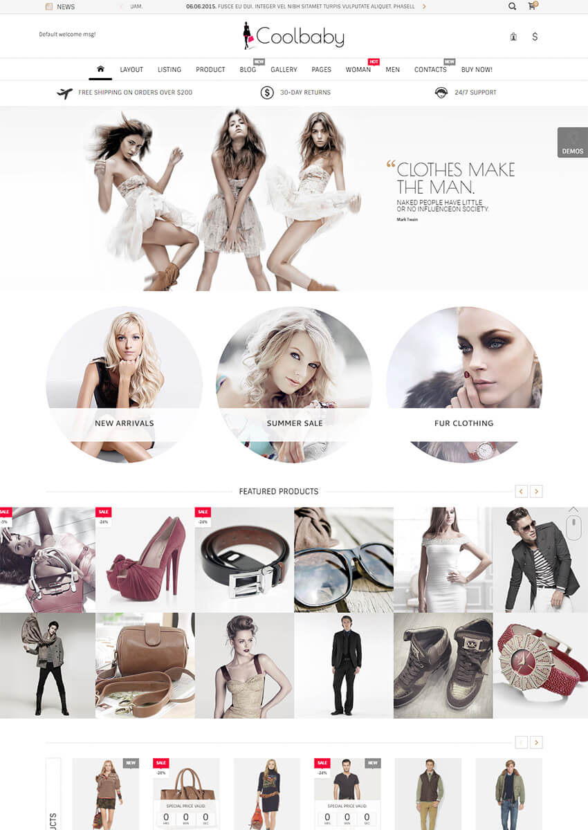 Coolbaby Responsive eCommerce Shopify Theme