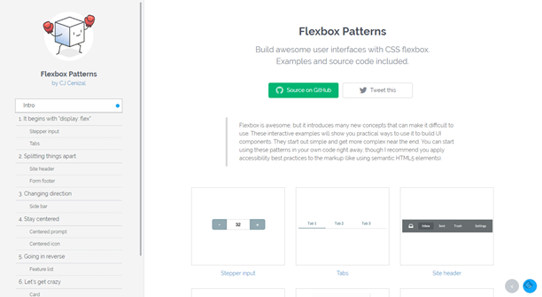 Flexbox Patterns: Ready-To-Use Building Blocks for Your Design