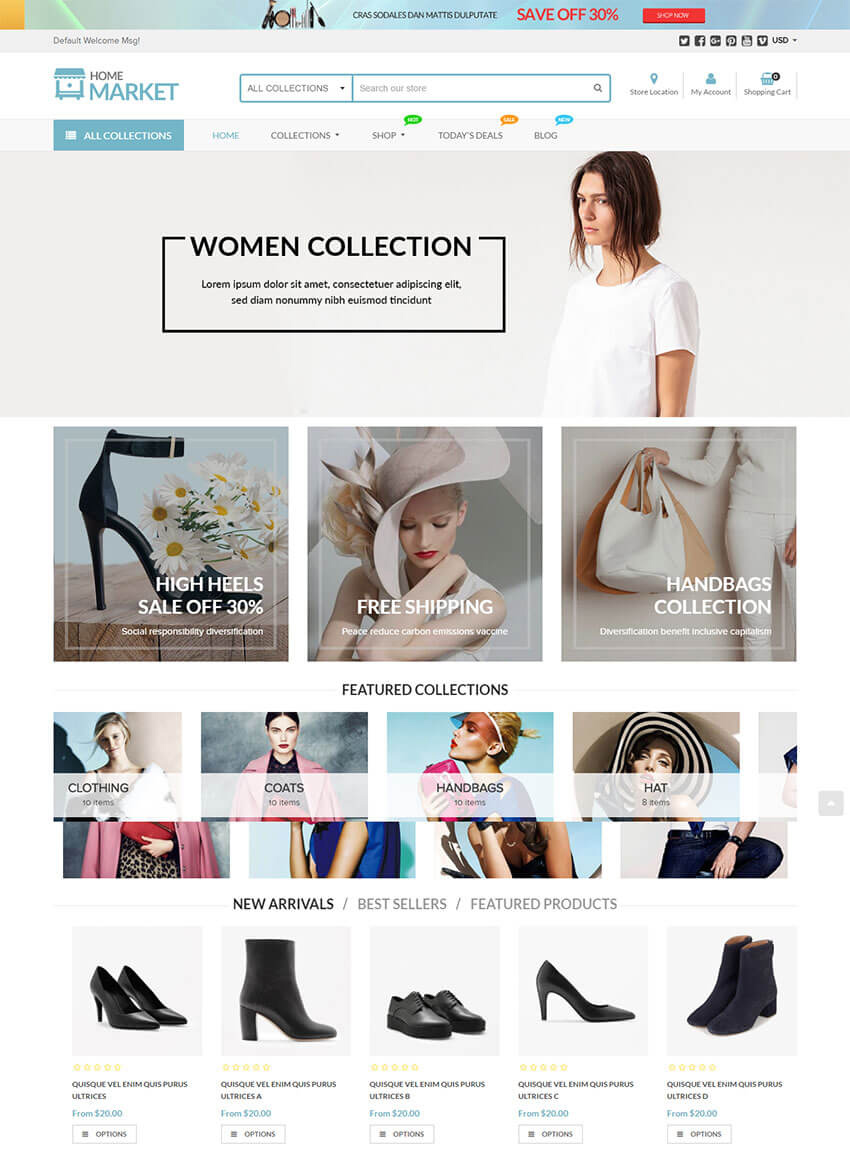 20 Best Shopify Themes With Beautiful eCommerce Designs - iDevie