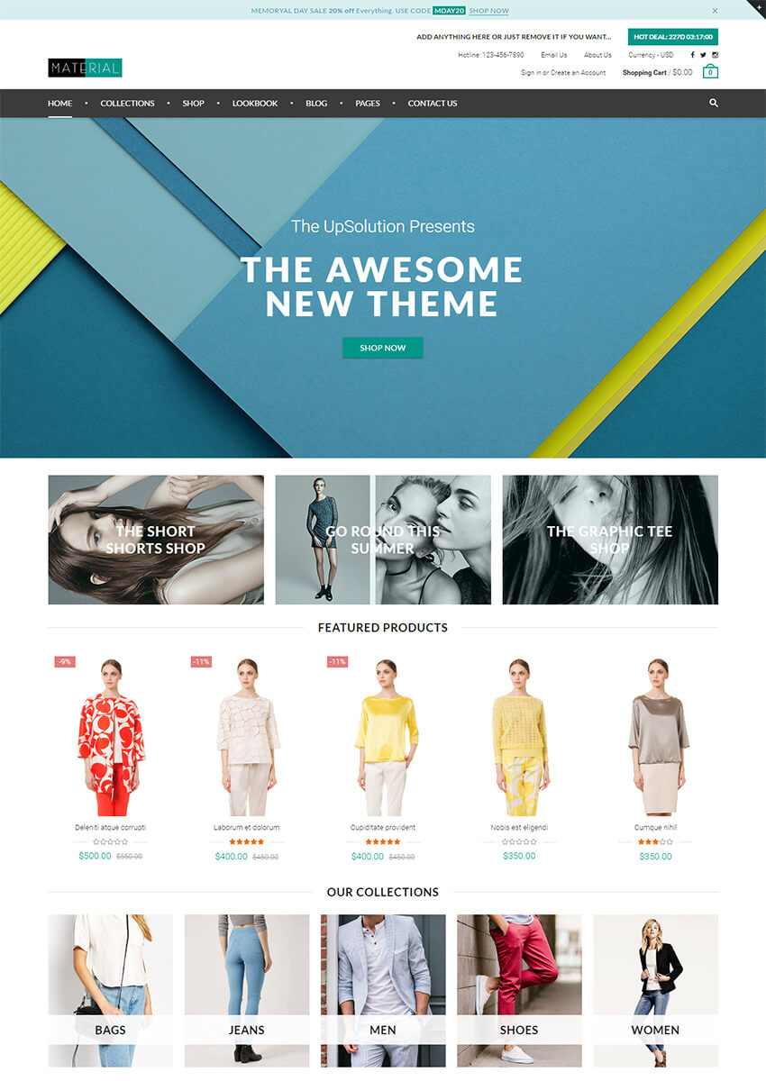 Material Responsive Shopify Theme