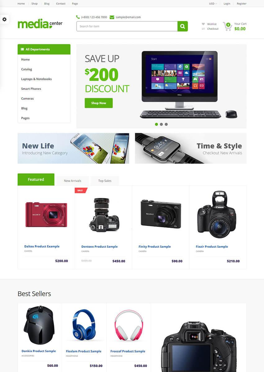 MediaCenter Electronics Store Shopify Theme