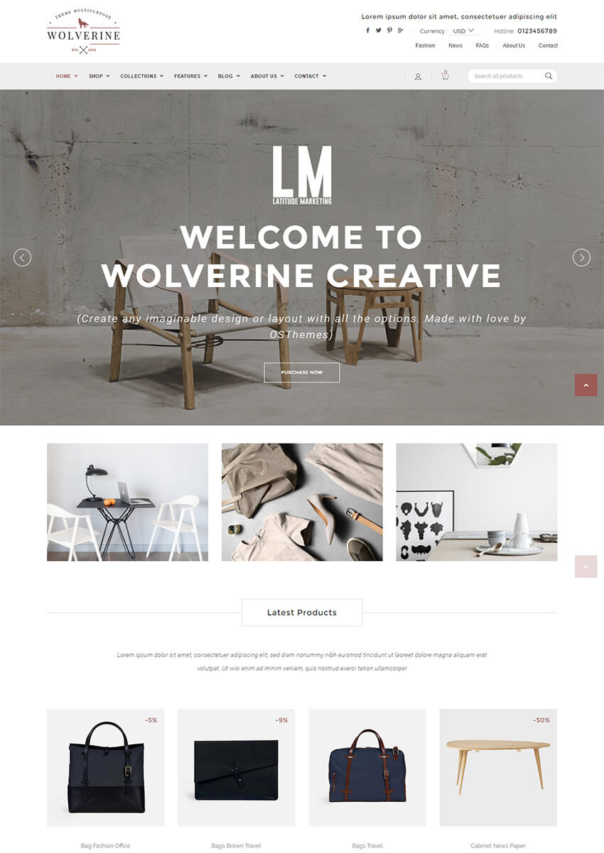 Wolverine Responsive Multipurpose Shopify Theme