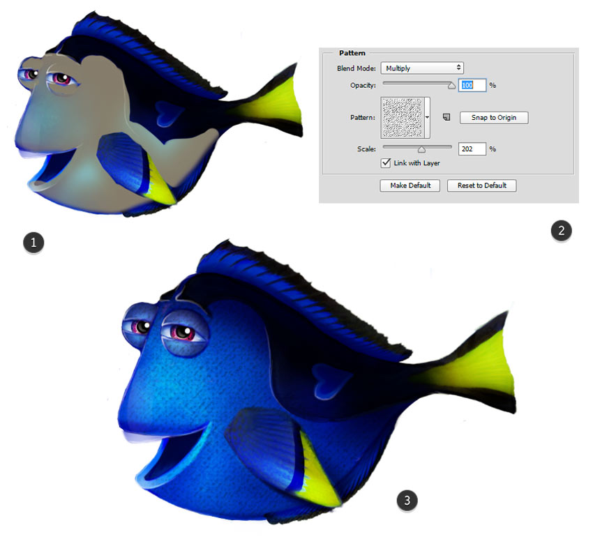 Add Fish Texture with a Pattern Overlay