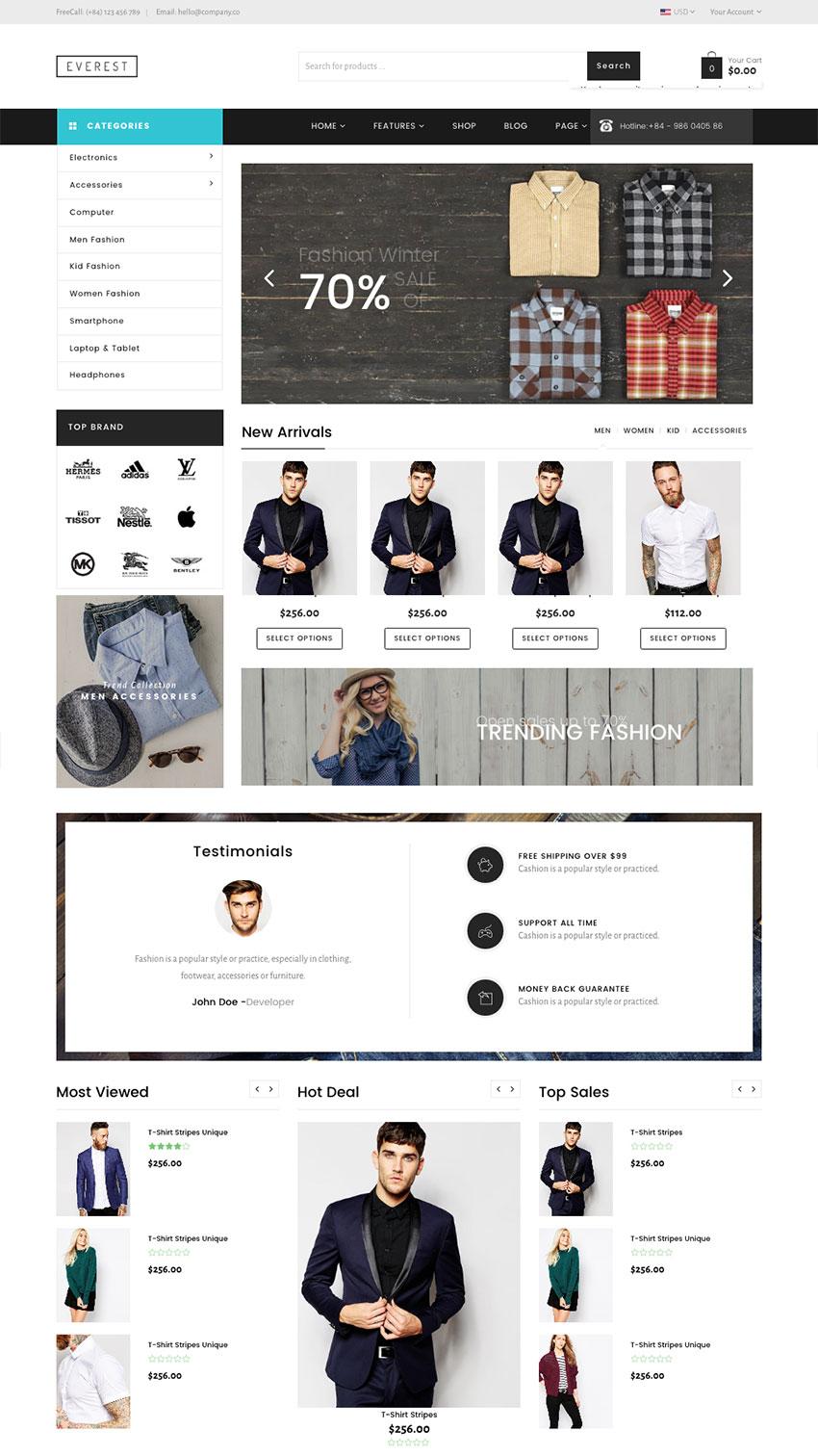 Everest Multipurpose Responsive Shopify Theme