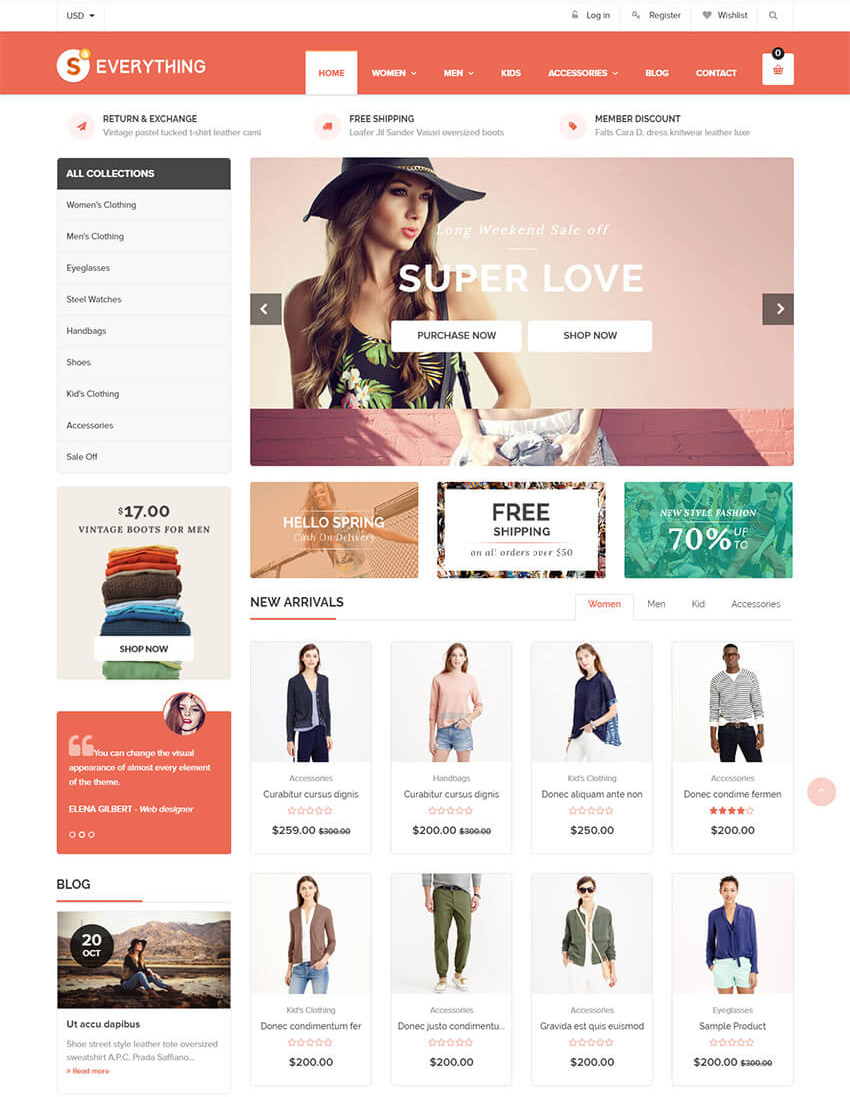 20 best shopify themes with beautiful ecommerce designs for Free shopify templates