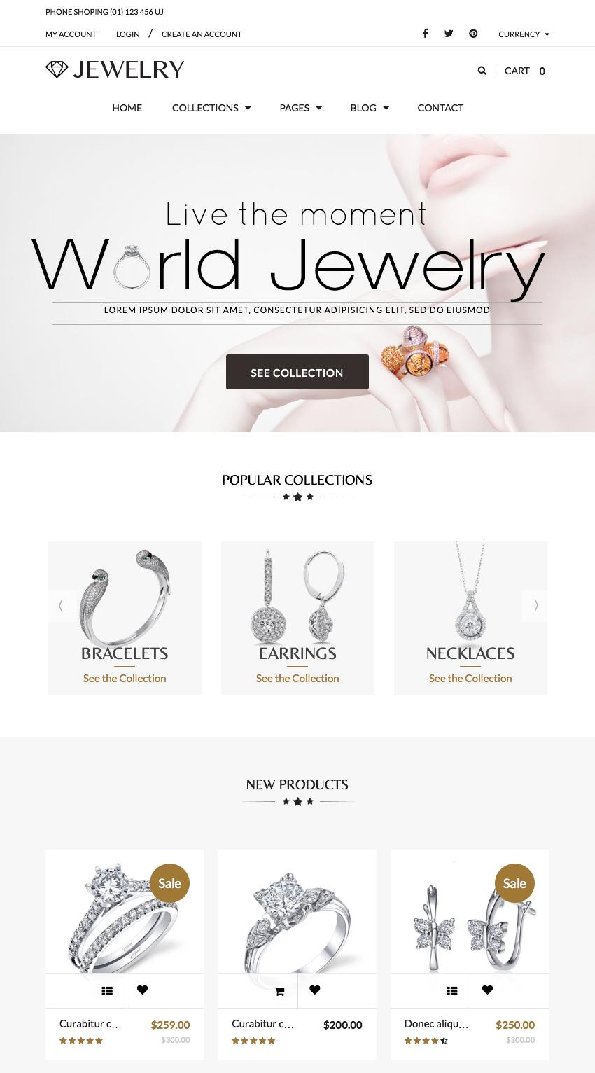 Jewelry - Elegant Shopify Theme