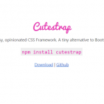 Cutestrap – Sassy, Opinionated CSS Framework