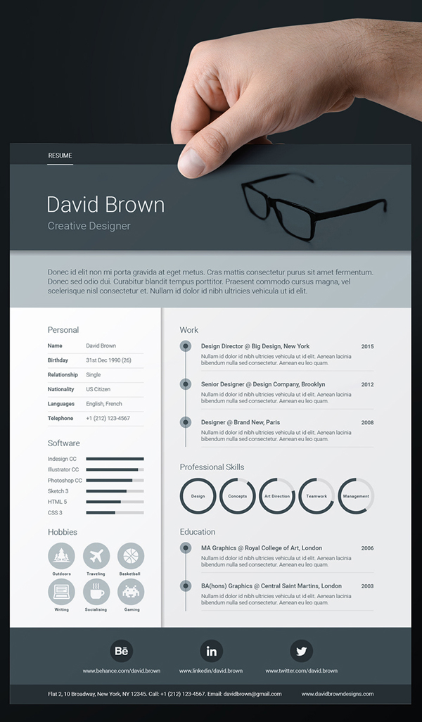 20 Free CV / Resume Templates & PSD Mockups - iDevie
