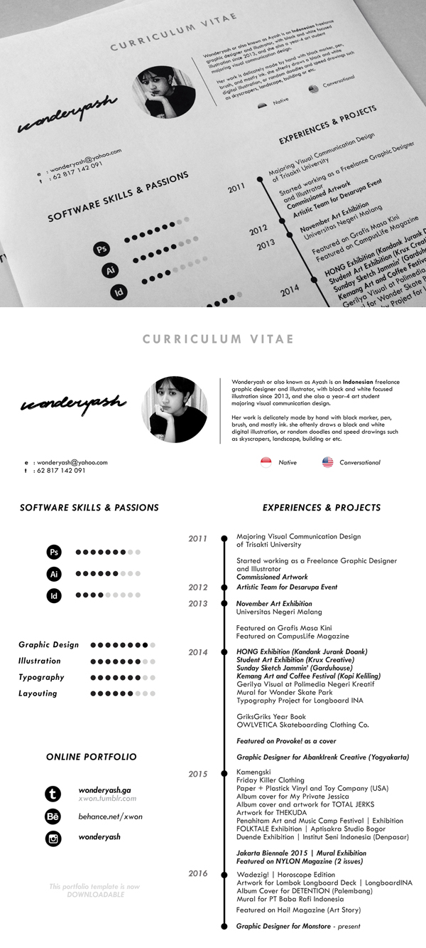 Free CV or Resume Template