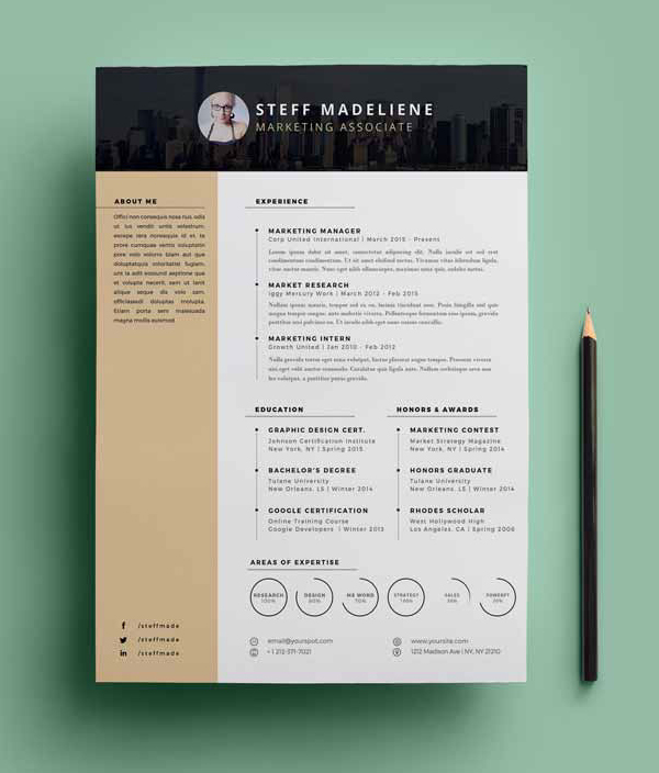 Free Cv  Resume Templates  Psd Mockups  Idevie
