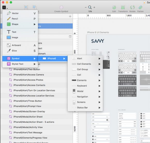 Free iOS Wireframe kit for Sketch Preview